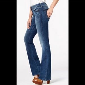 Seven7 Flare Jeans with crystal buttons